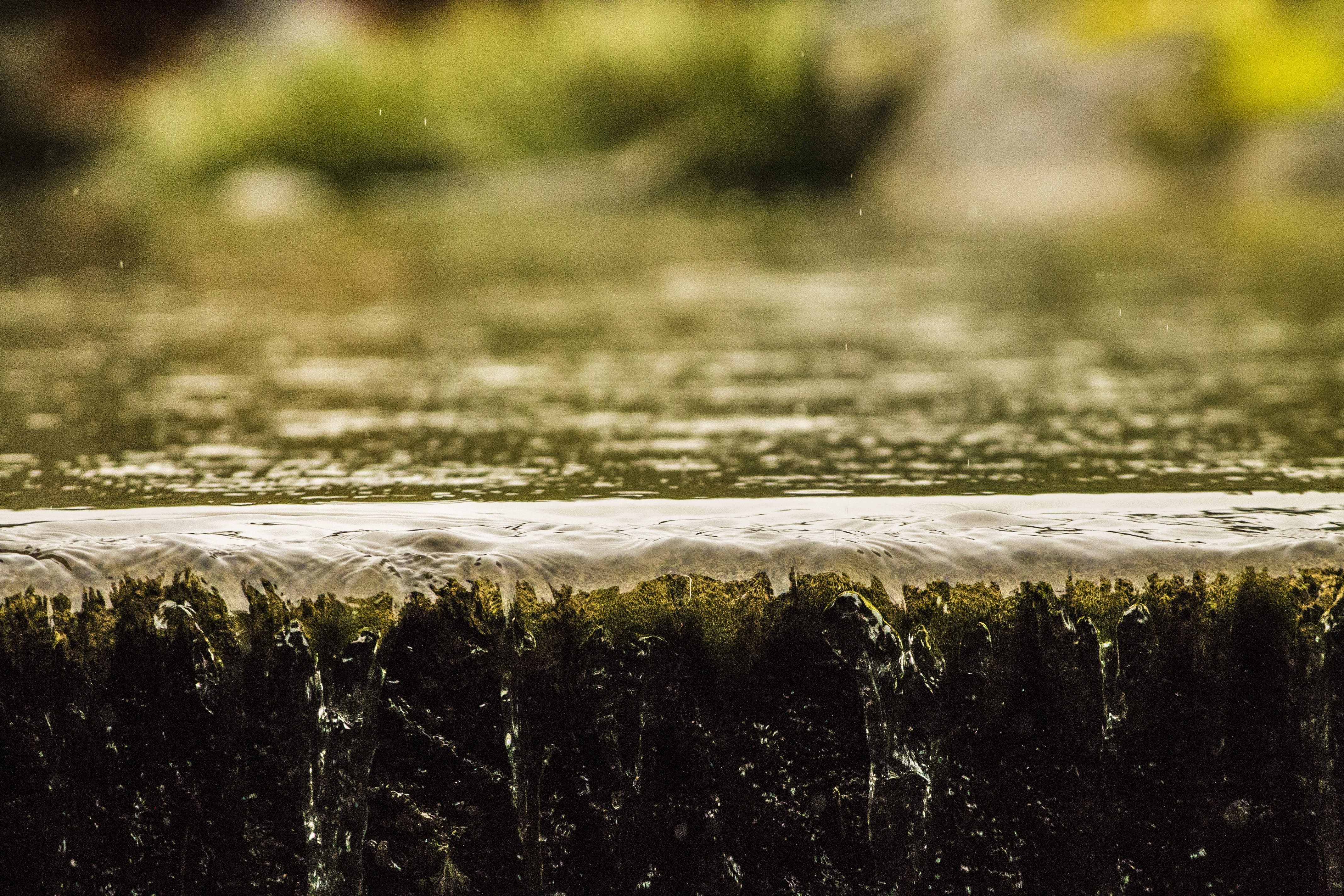 closeup photography of water stream