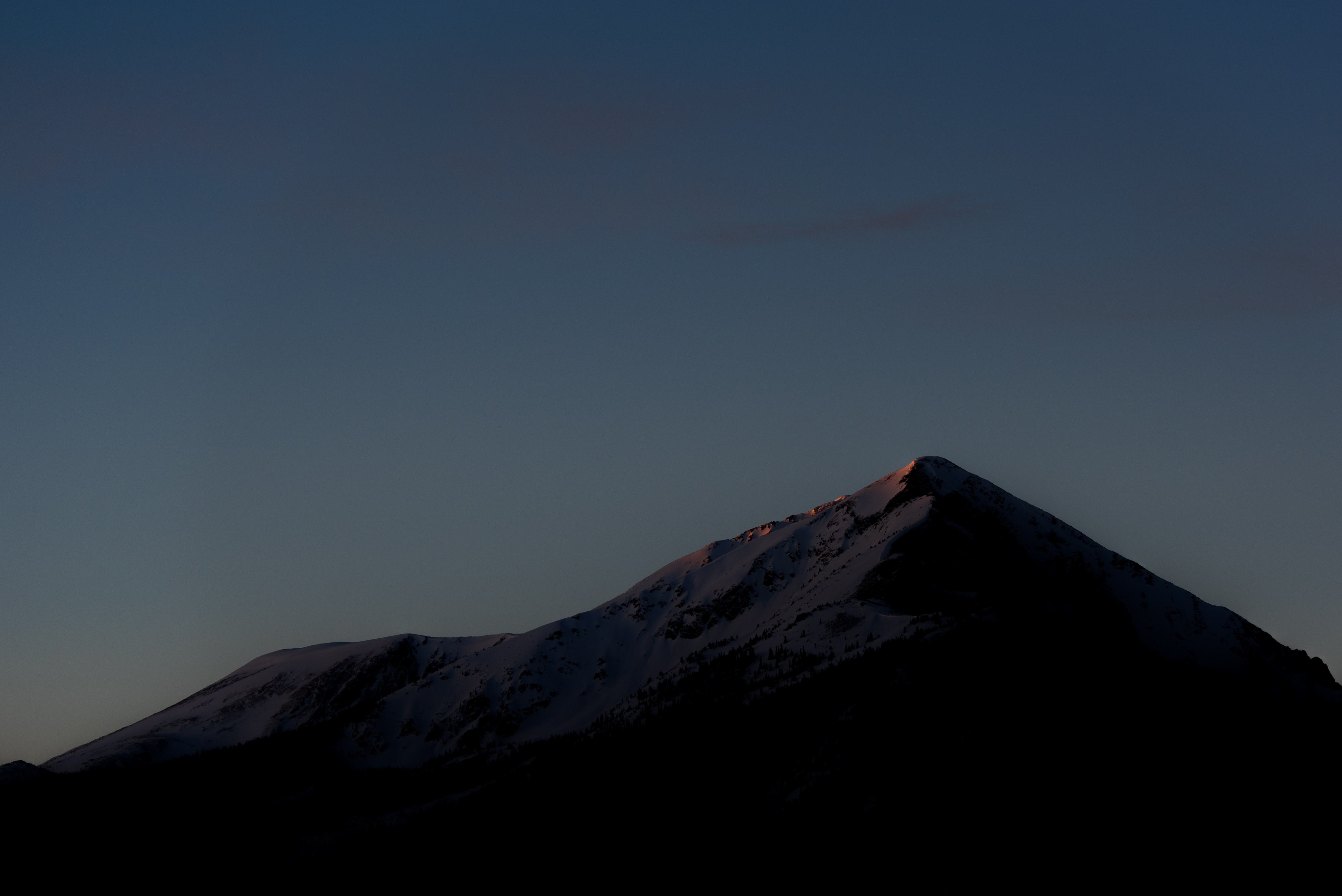 mountain silhouette at golden hour