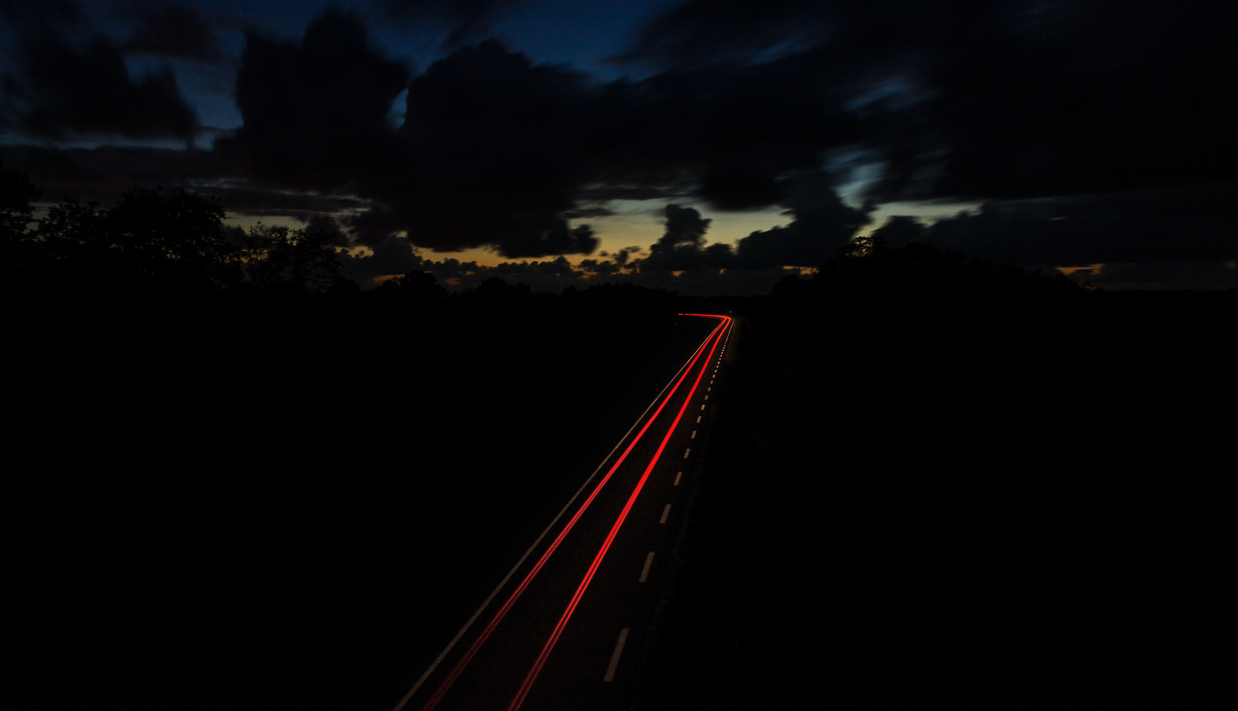 time lapse photography of vehicle light