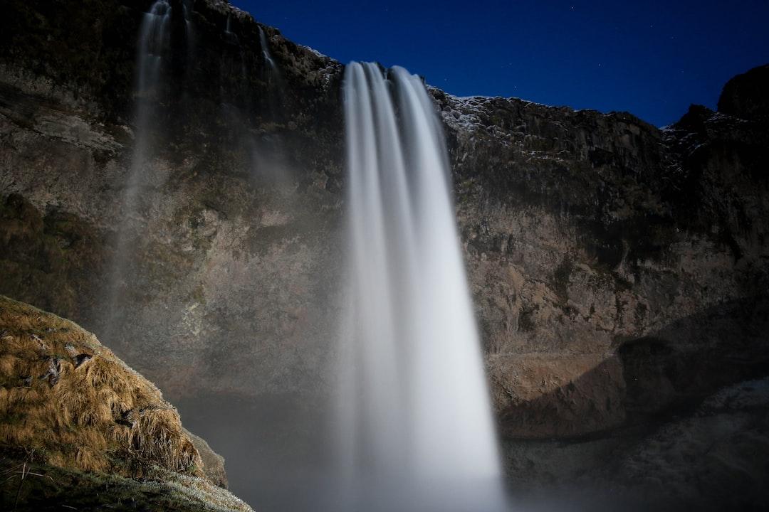 Seljalandsfoss waterfall in motion