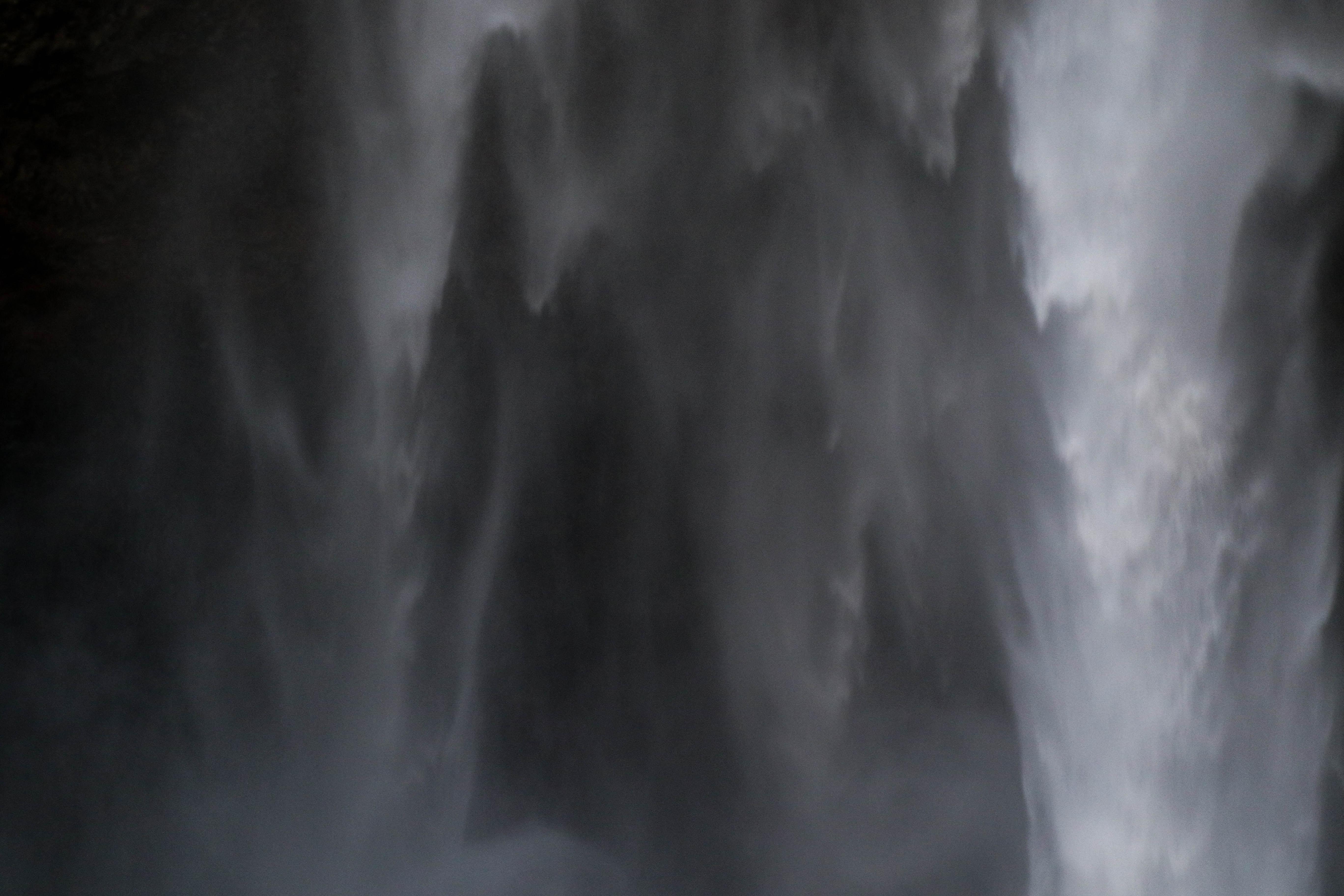 A macro shot of a waterfall.