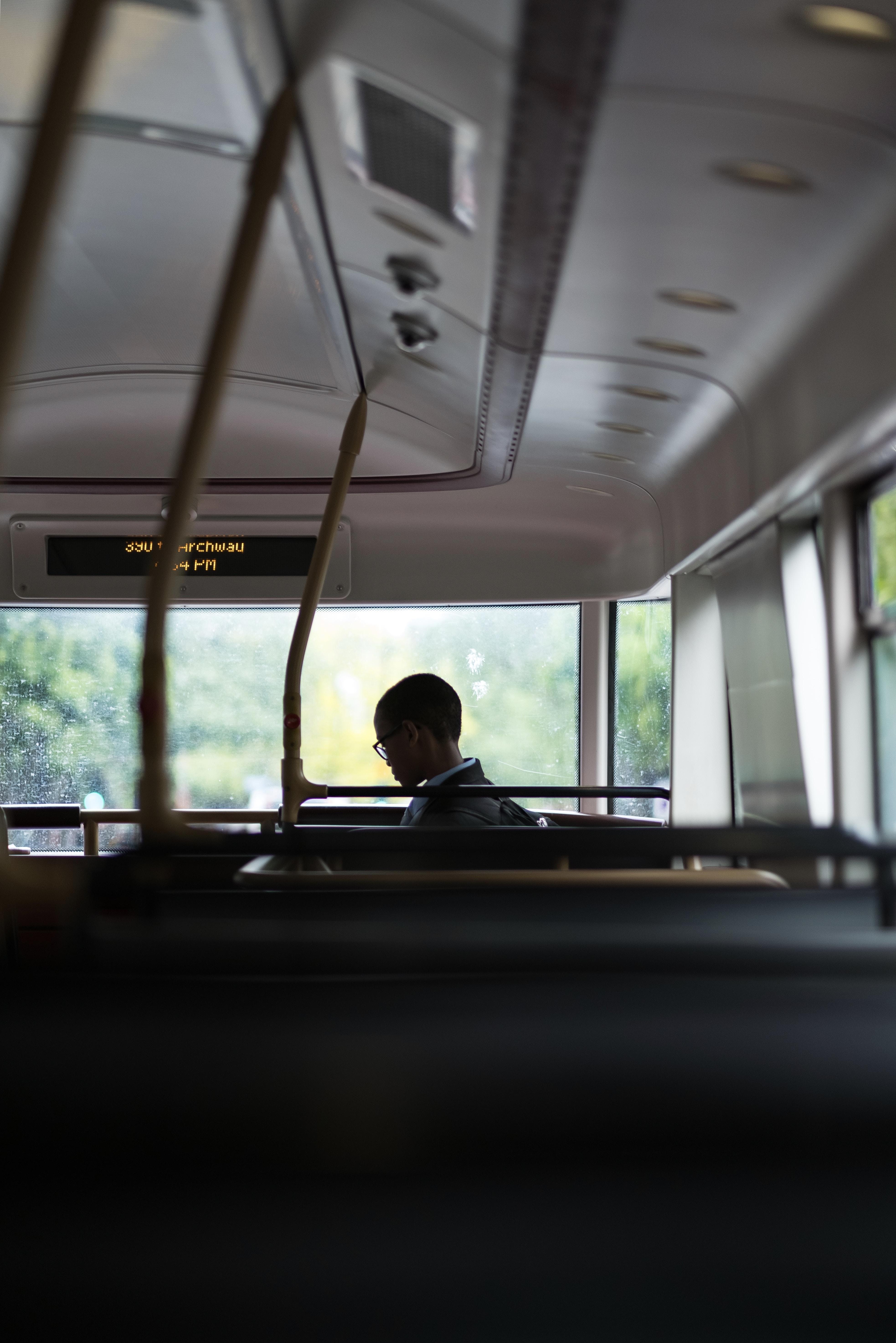 boy inside the bus
