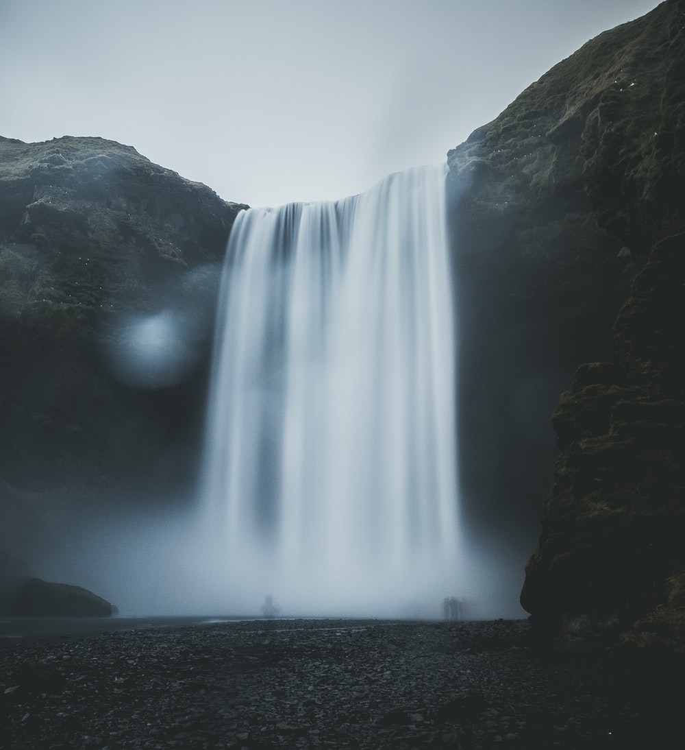waterfalls in forest nature photography