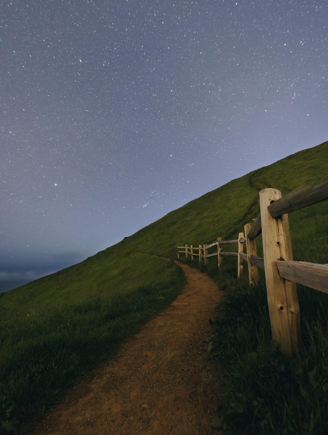Fence trail at Mount Tamalpais