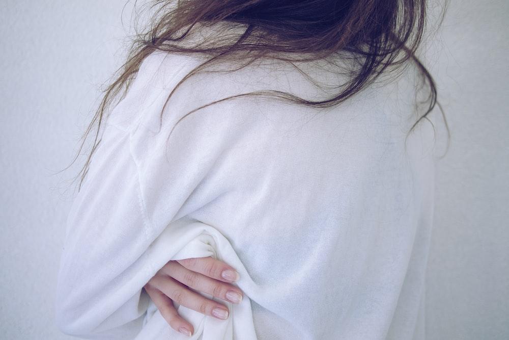 woman wearing shirt