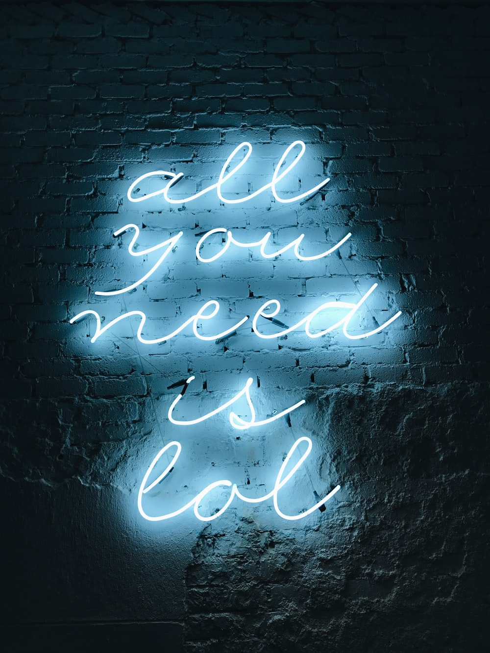all you need is lol neon light signage