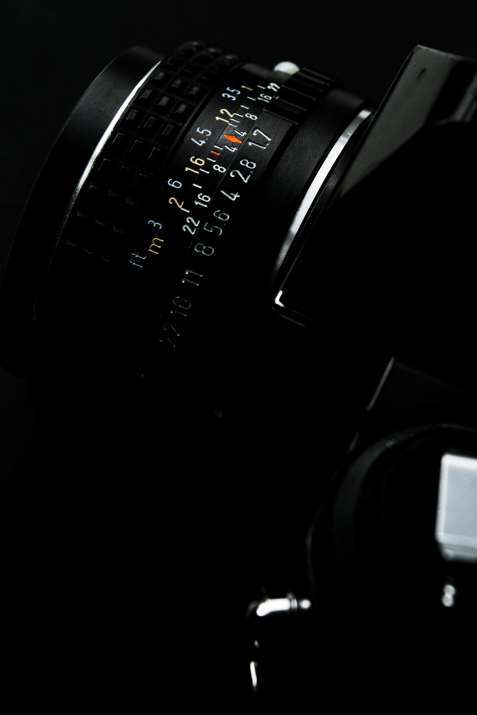 black telephoto lens