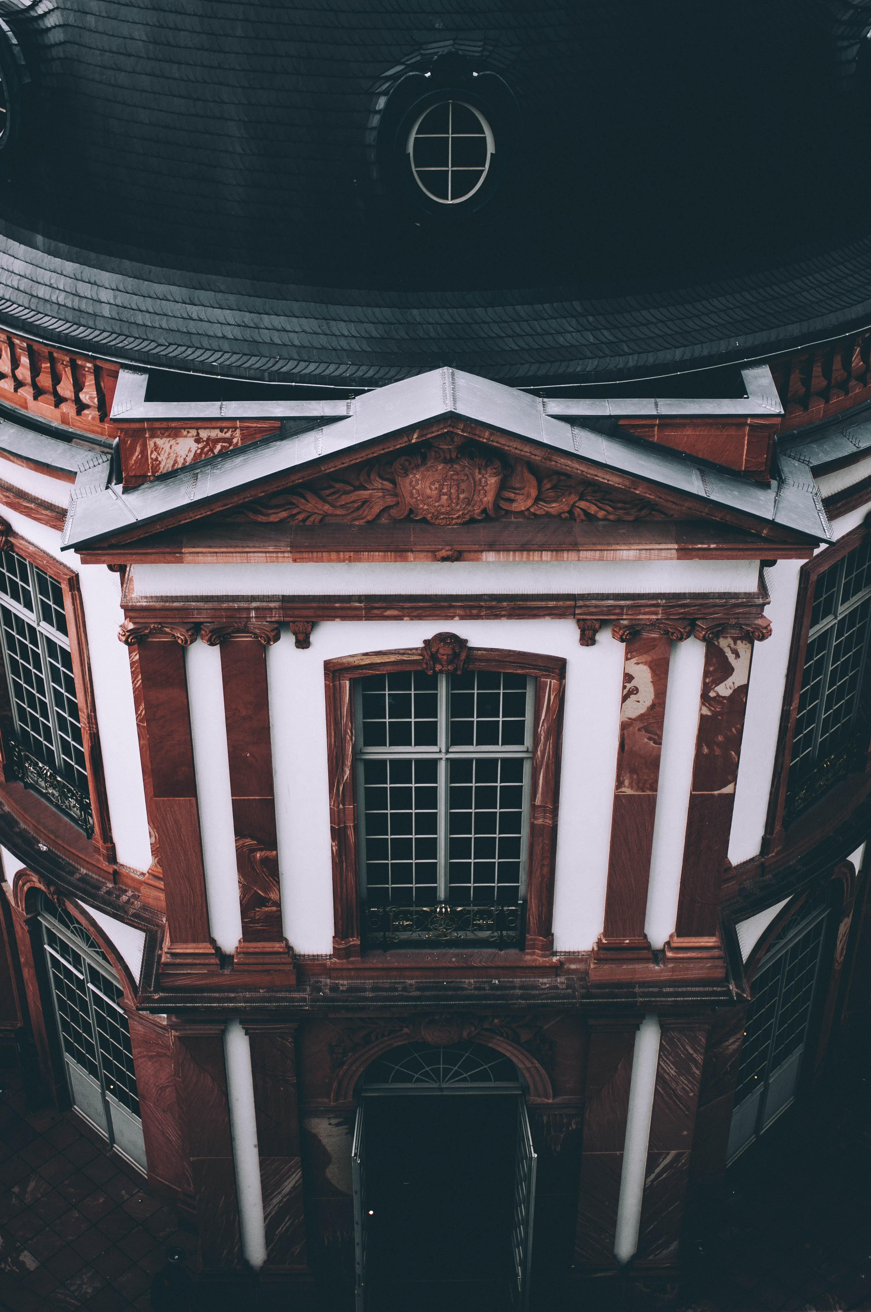 brown and black miniature dome building