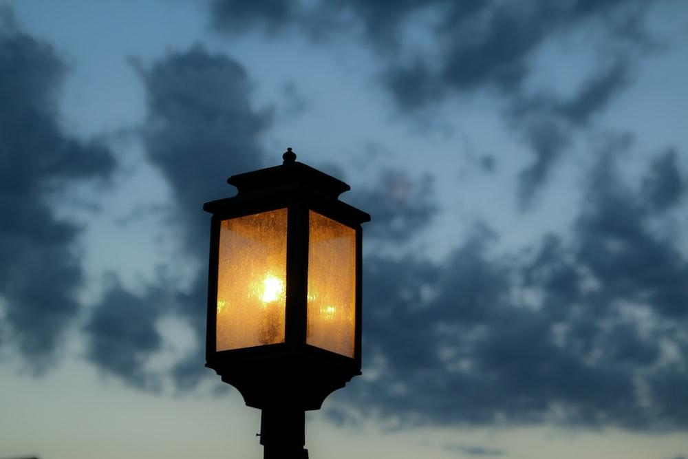 street lamp during nighttime