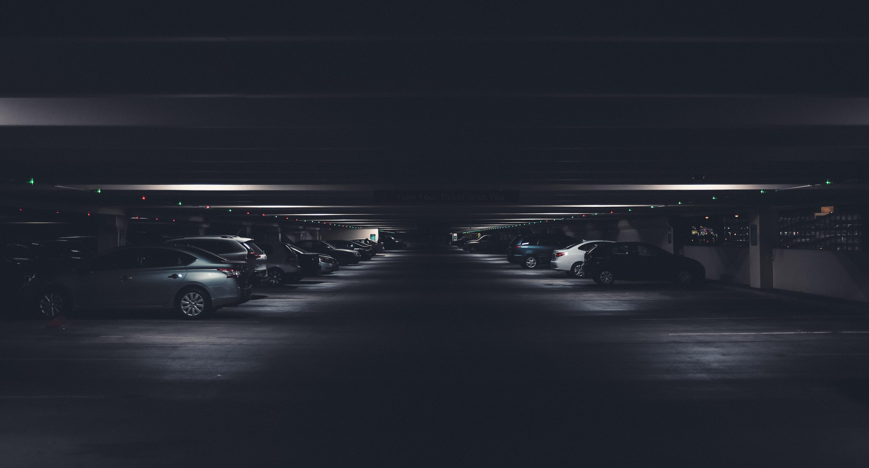 car under building