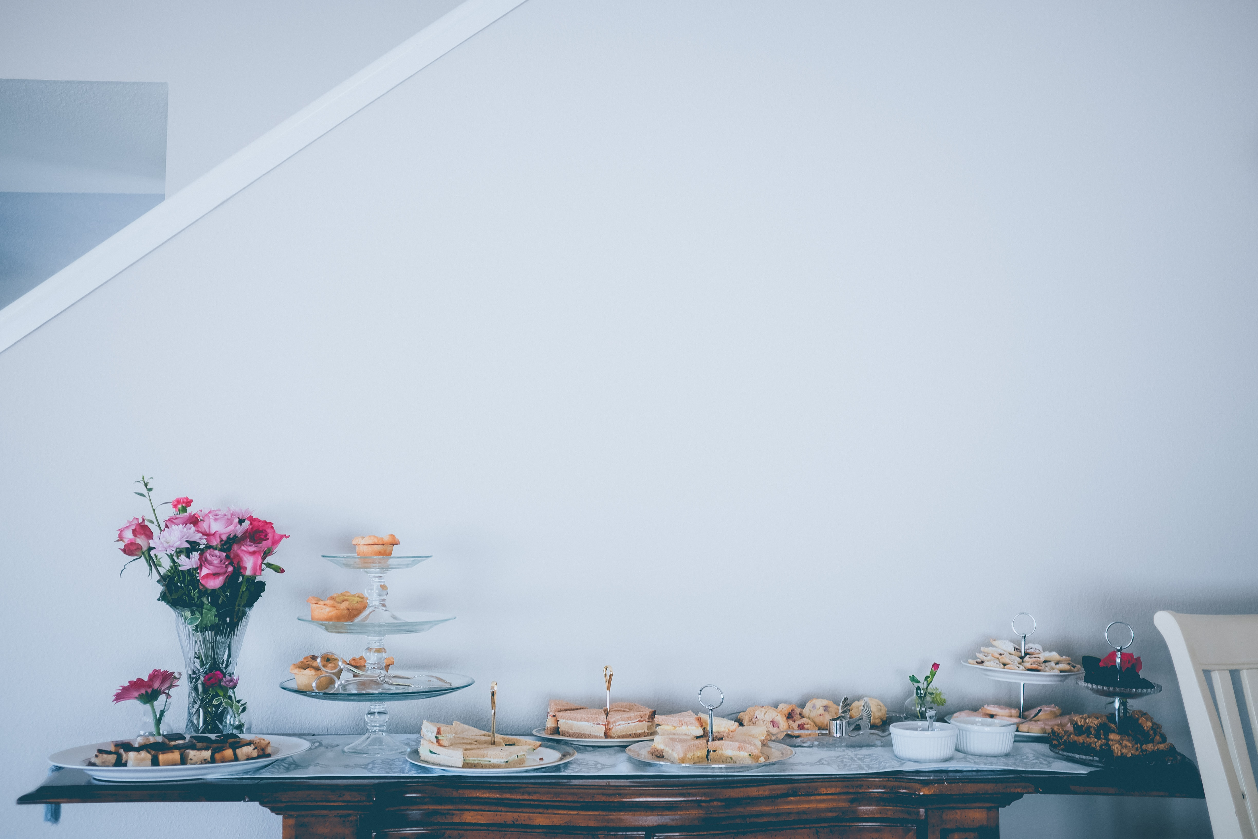pastries on table