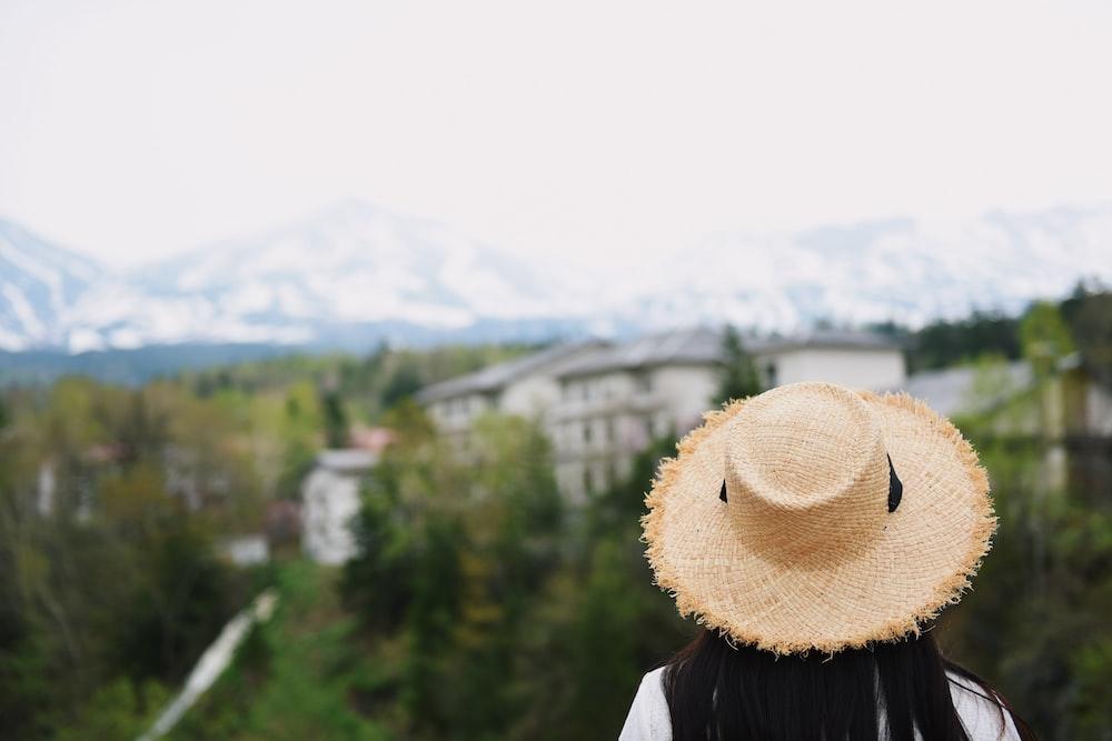 man sight seeing on mountain