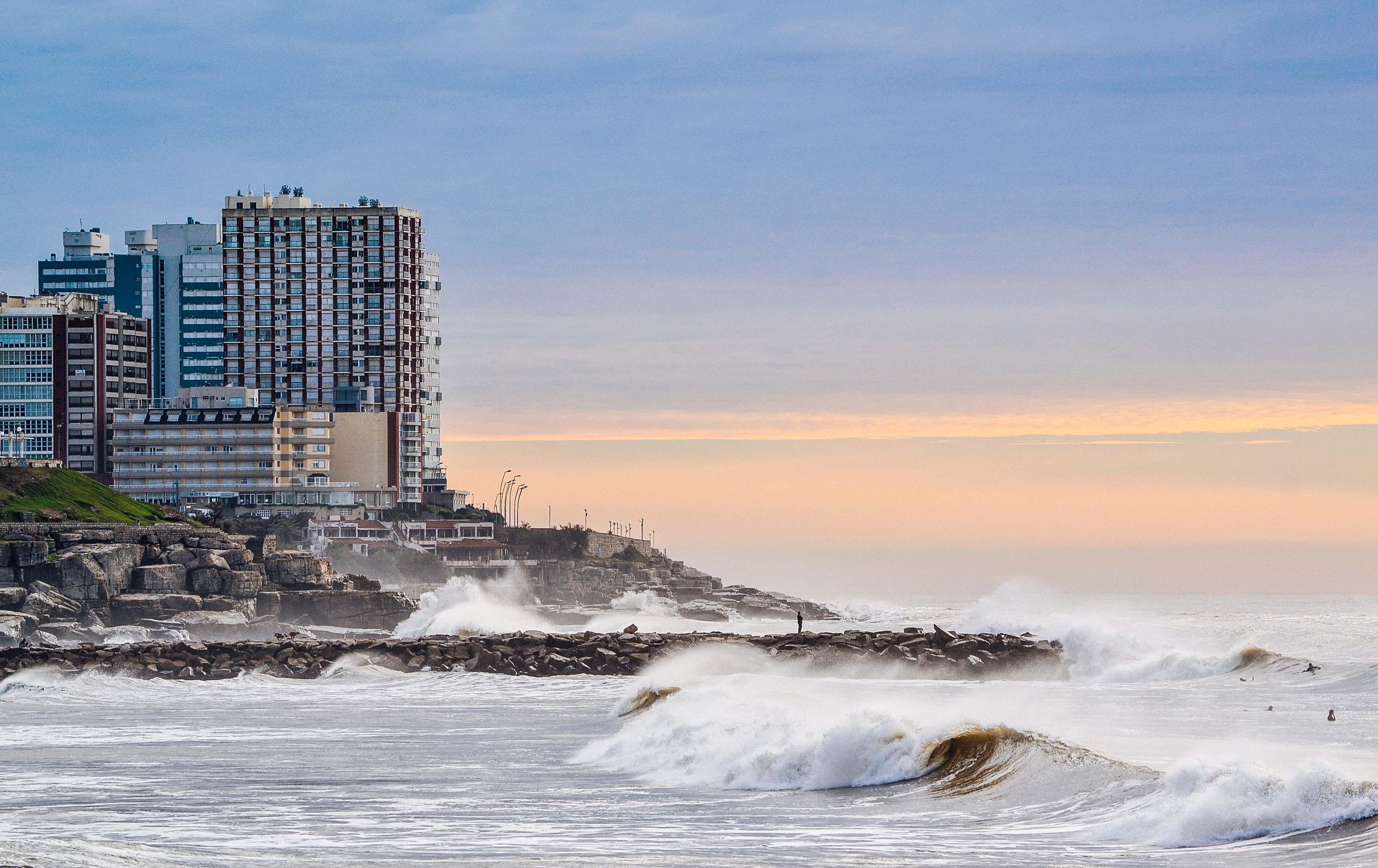 sea wave splashing in seashore