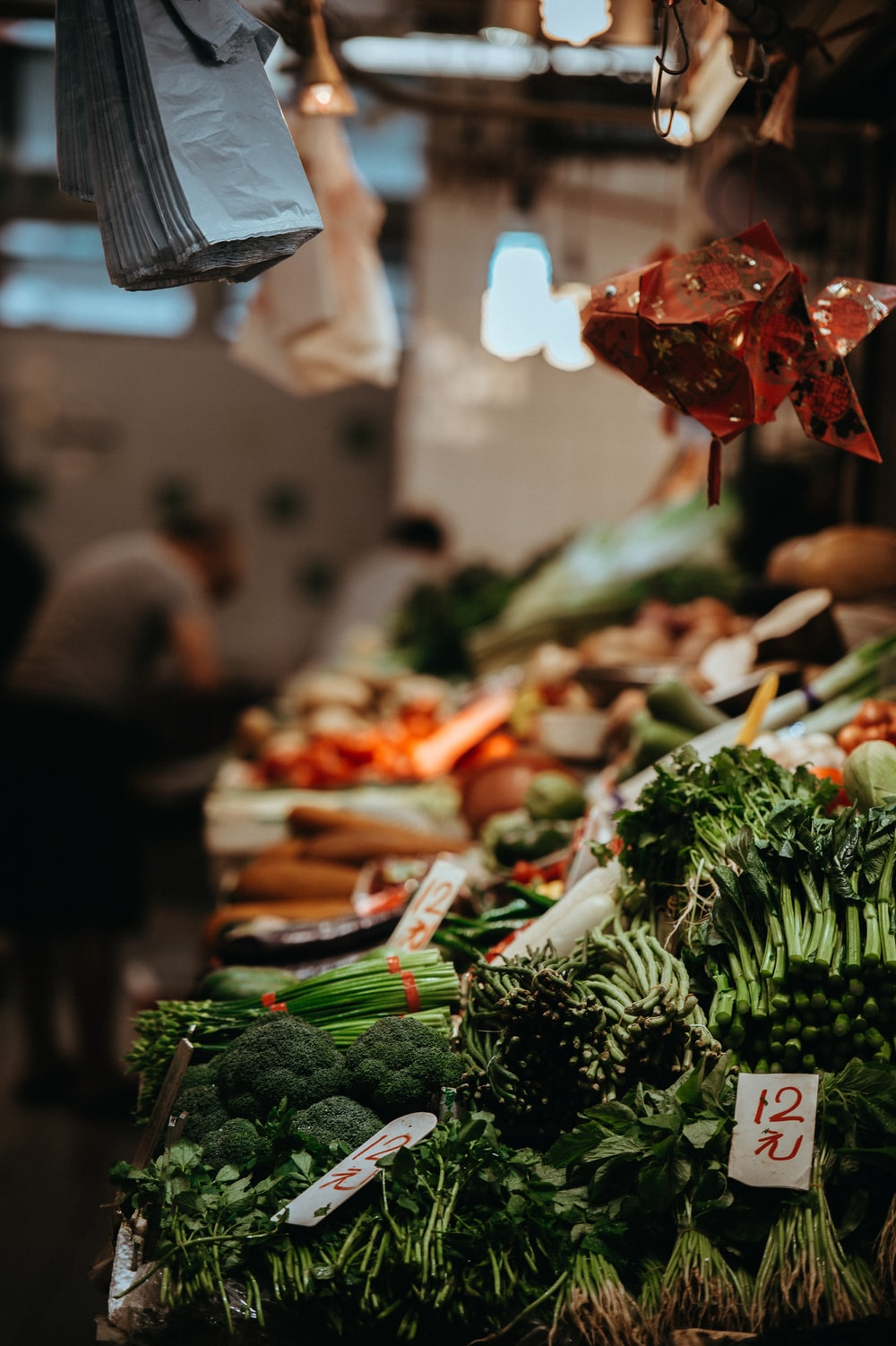 variety of vegetables on stall