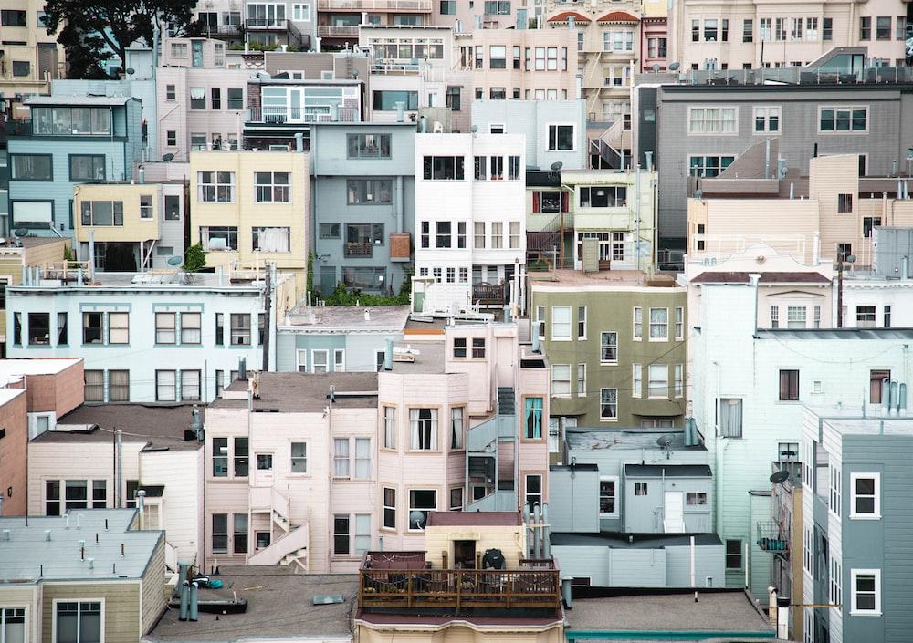 assorted concrete houses