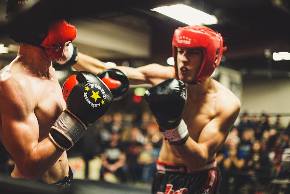 two man playing boxing
