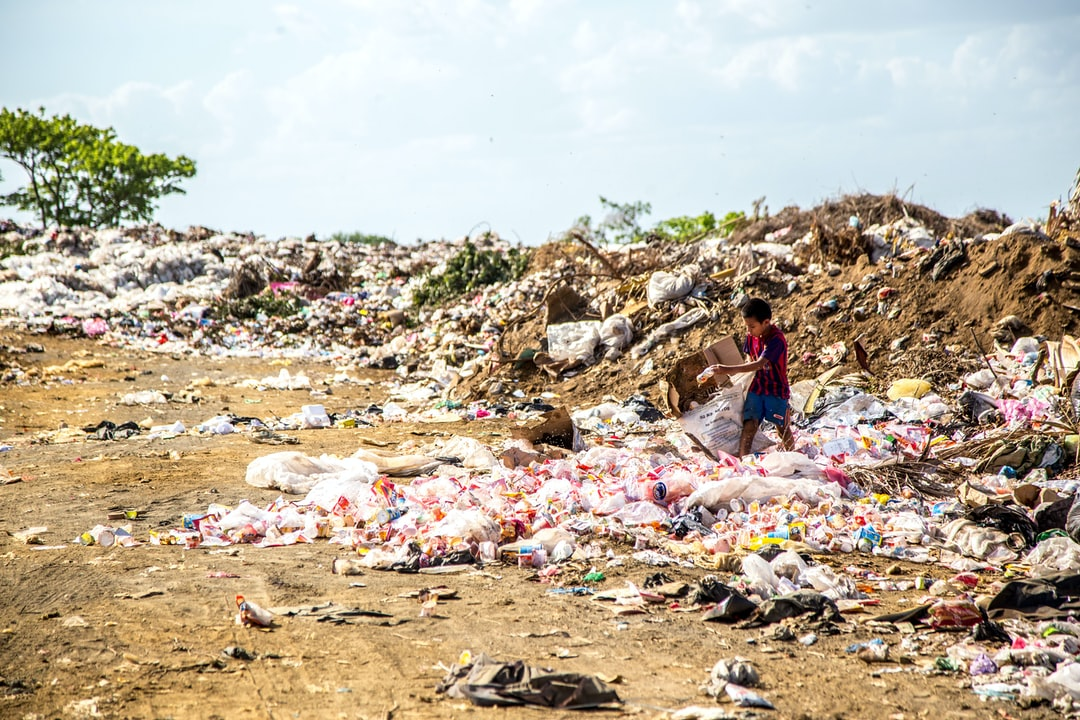 Plastic waste destroys the enviroment on land and in the sea