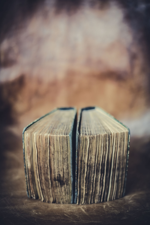 books closed selective focus photo