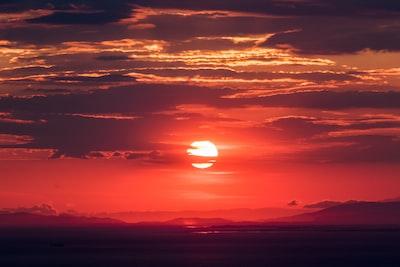 sunset sunset zoom background
