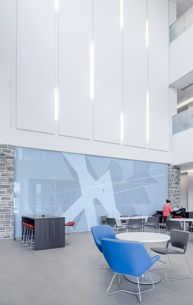 Clean seating area in a commmercial or school building