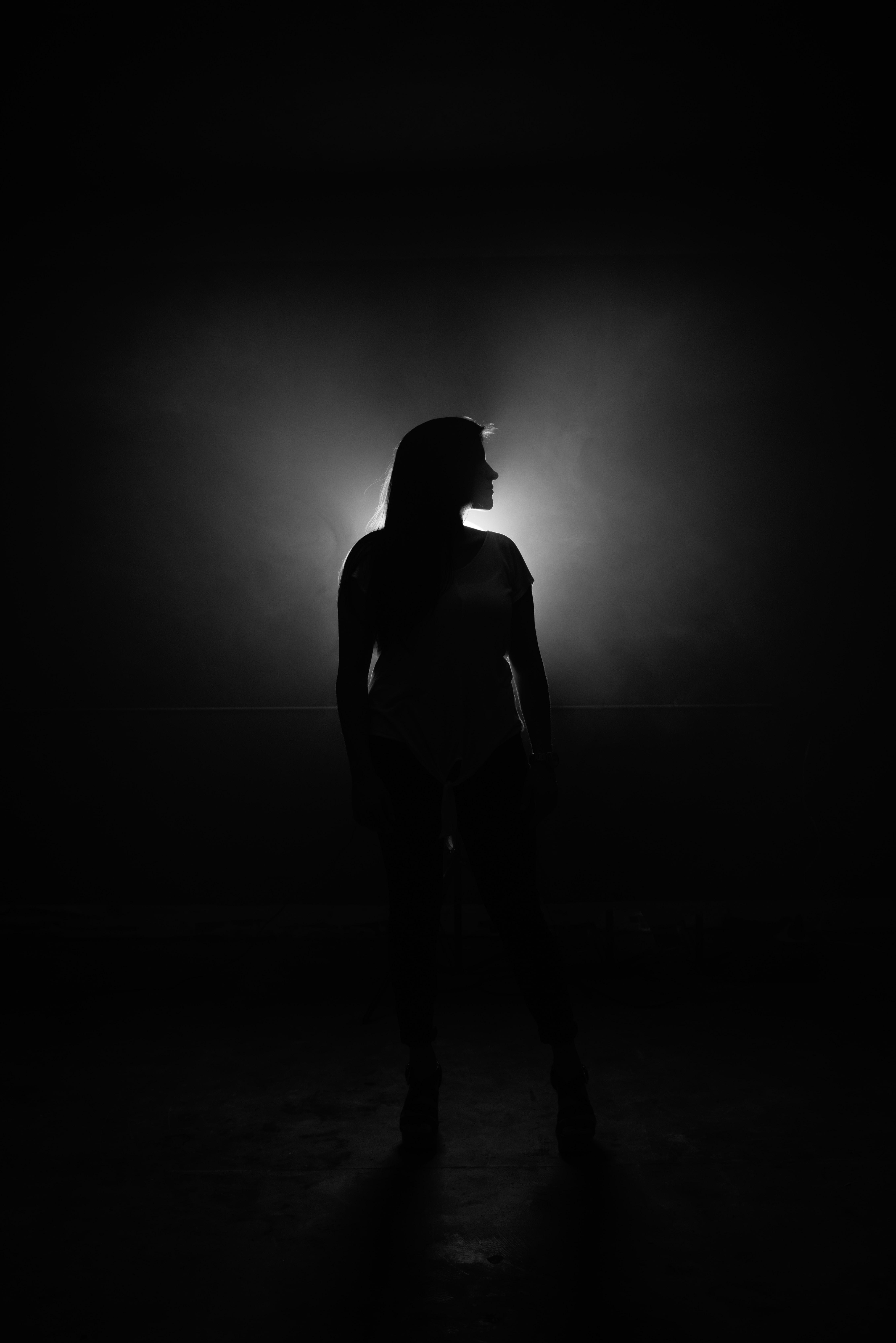 woman's shadow
