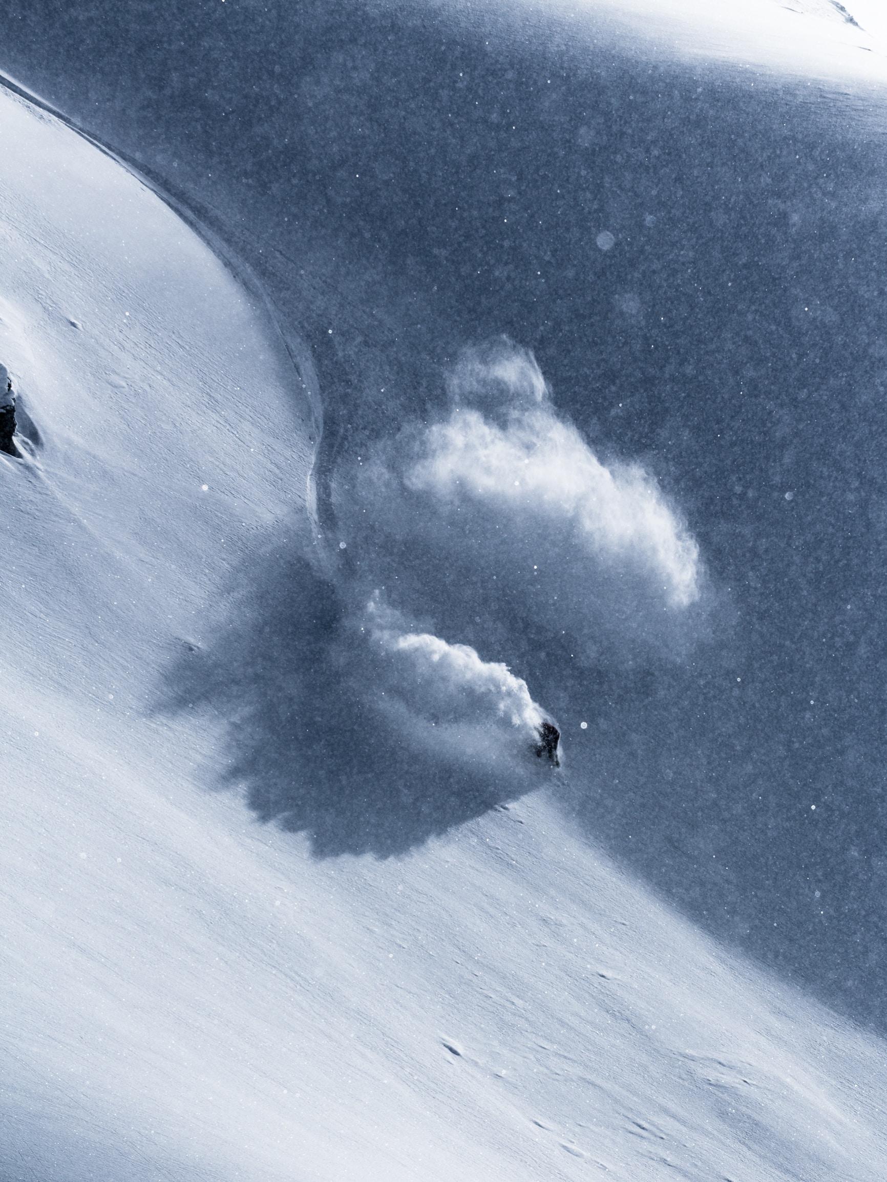 person snowboarding on tundra