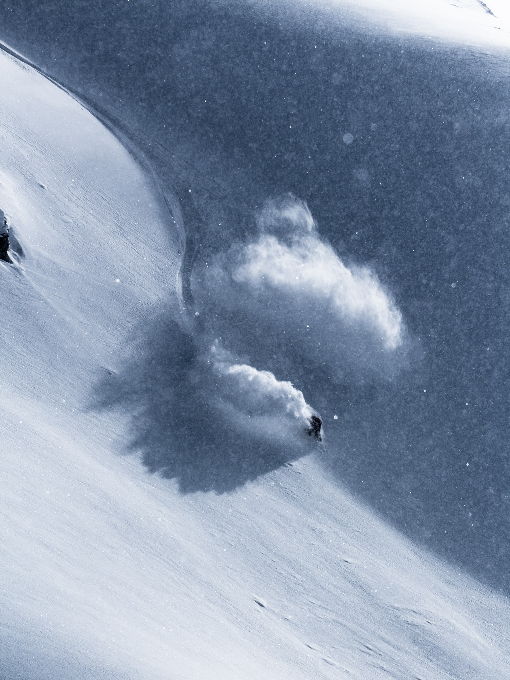 person snowboarding on tundra