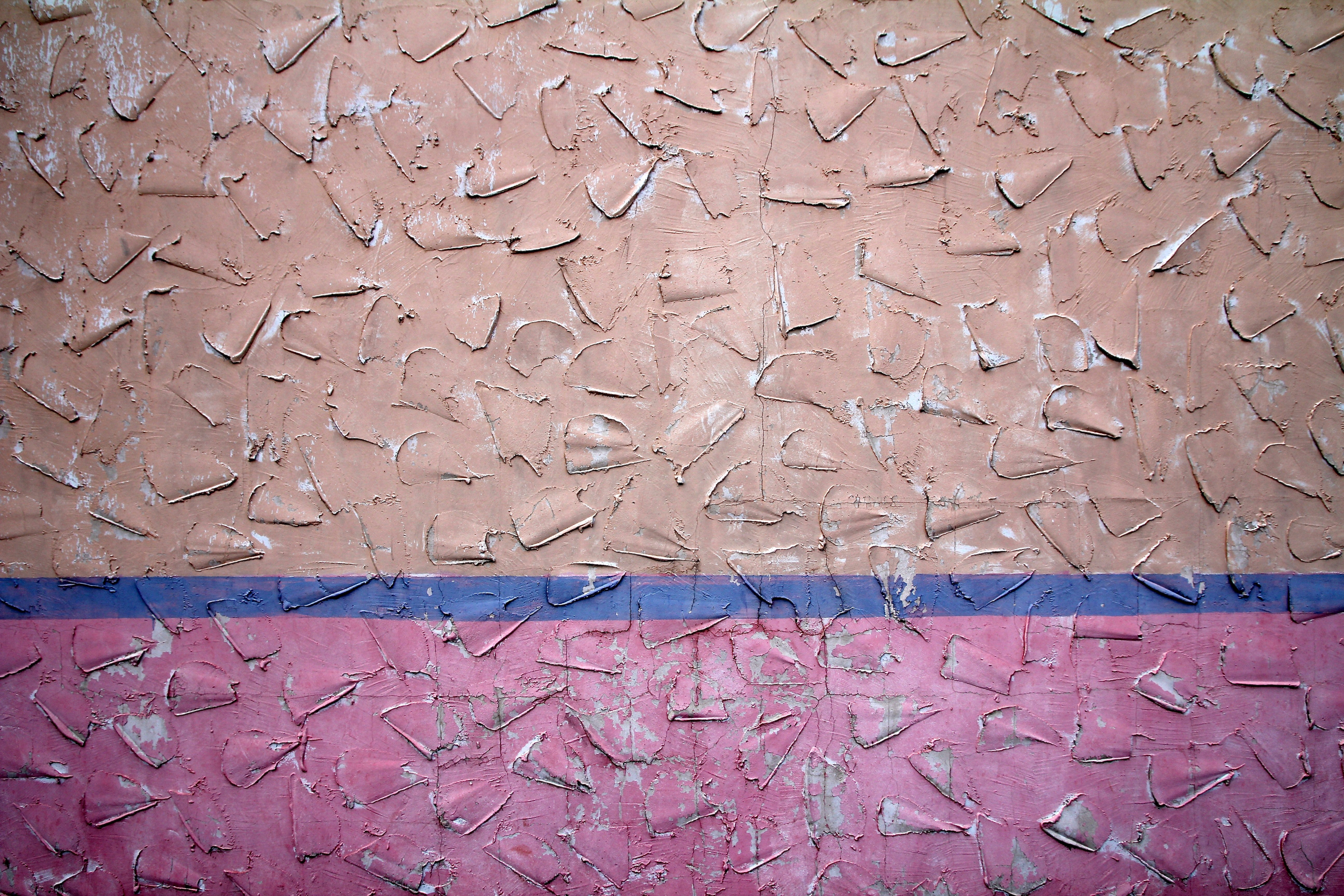 A colorful wall texture background on a wall in Edmond, Oklahoma