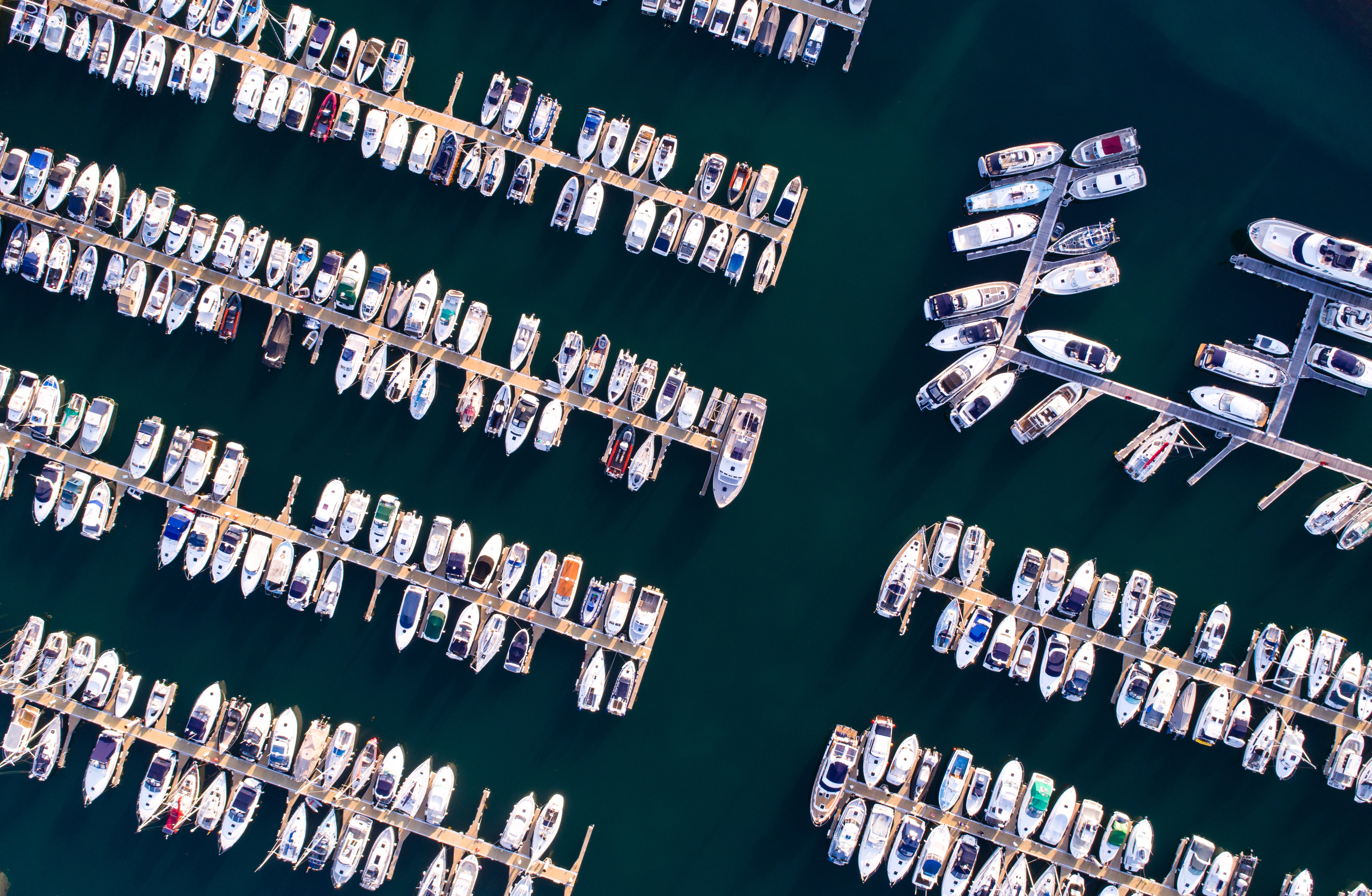bird's eyeview of sea port
