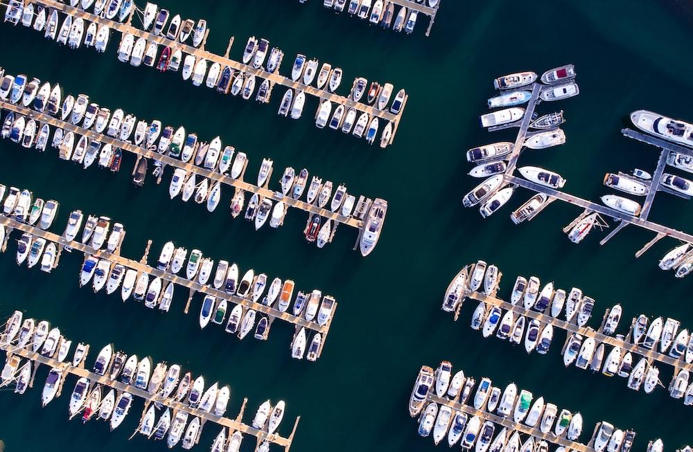bird's eyeview of sea port