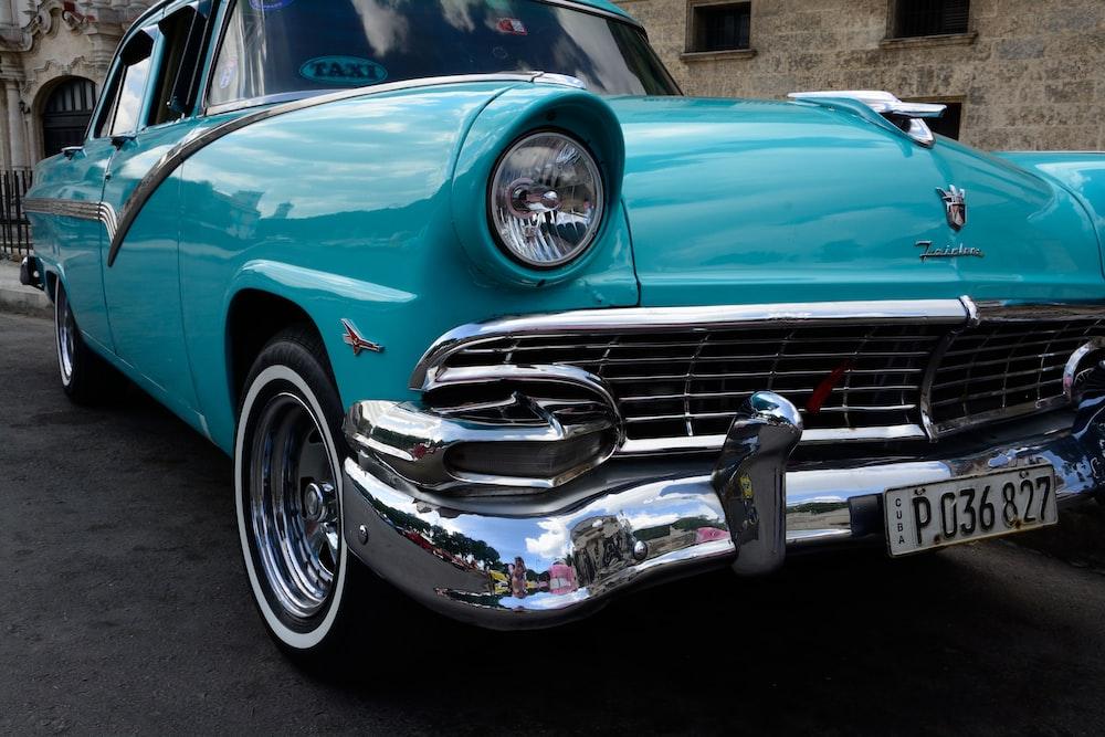 close up photo of vintage car