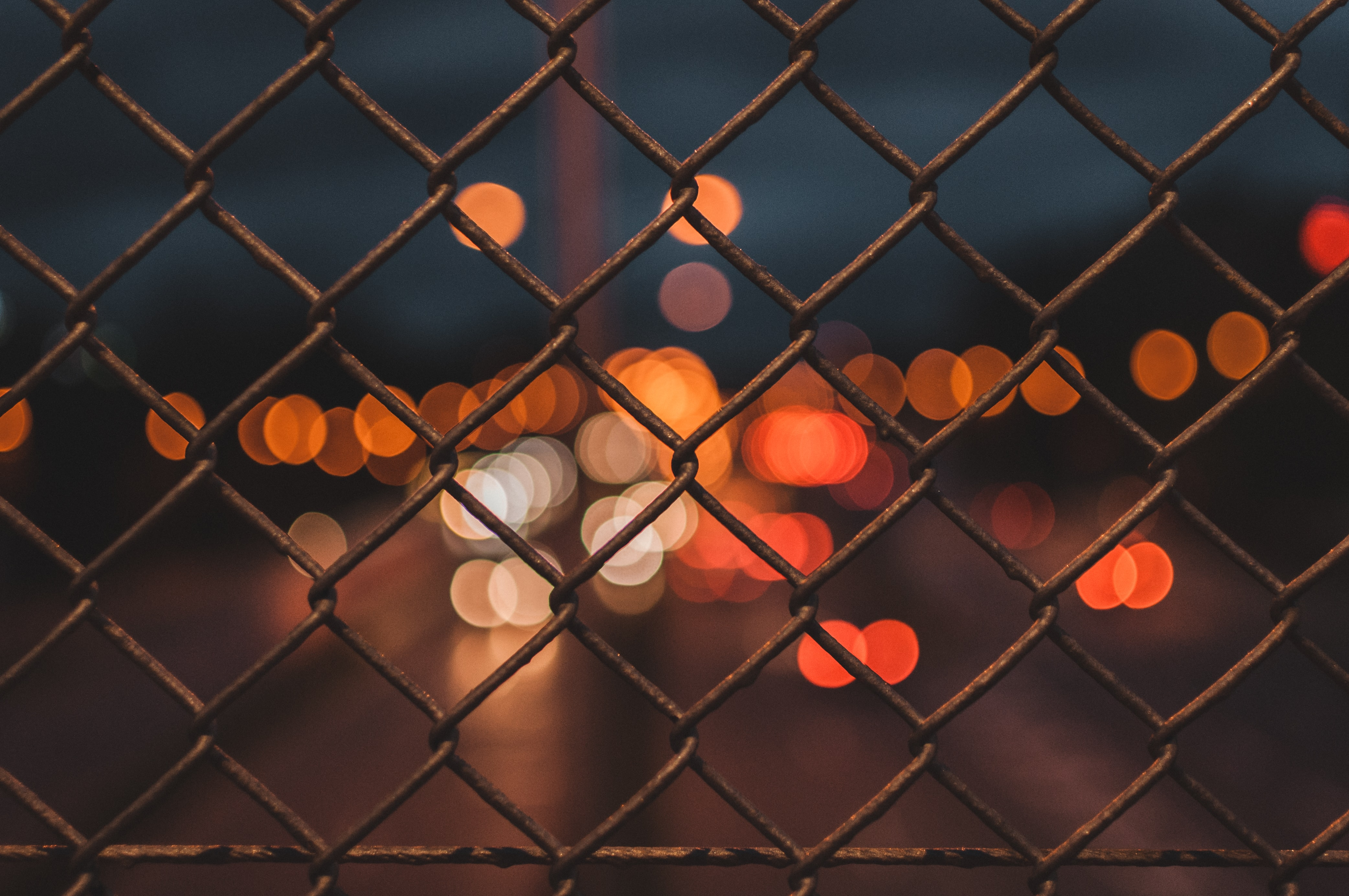 gray metal chain link fence