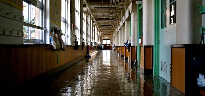 empty building hallway