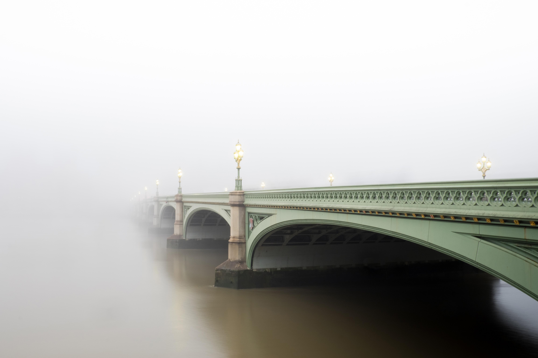 green concrete bridge