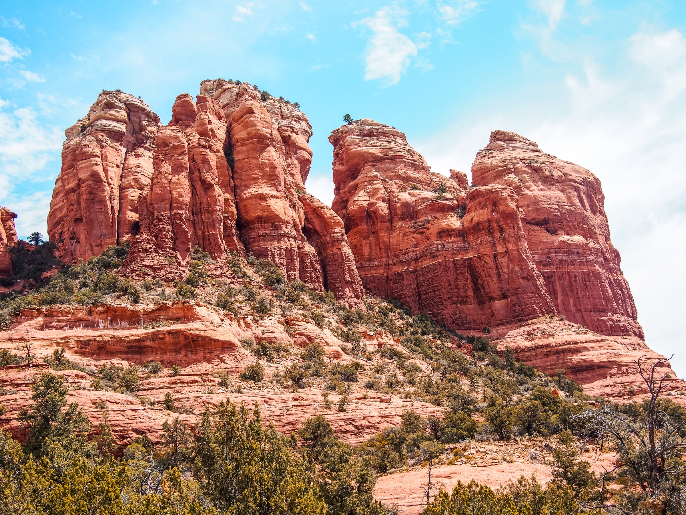 Sandstone mountain formations in the desert of Utah