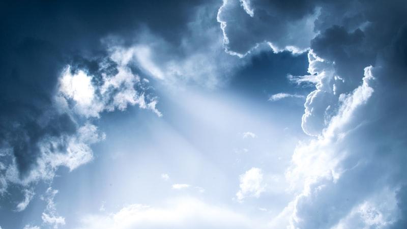 安靜 天空 白雲