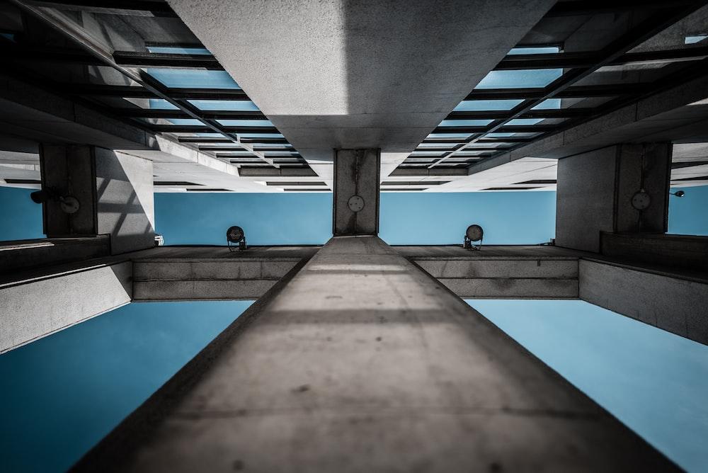 gray concrete building frame