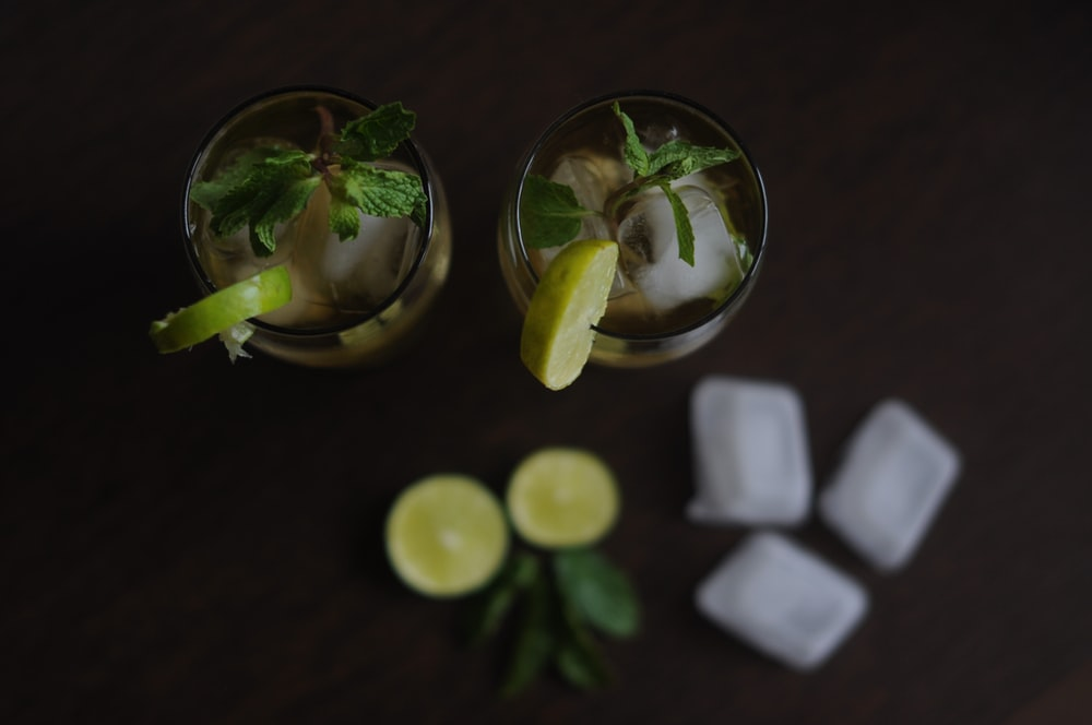 lime juice on cups