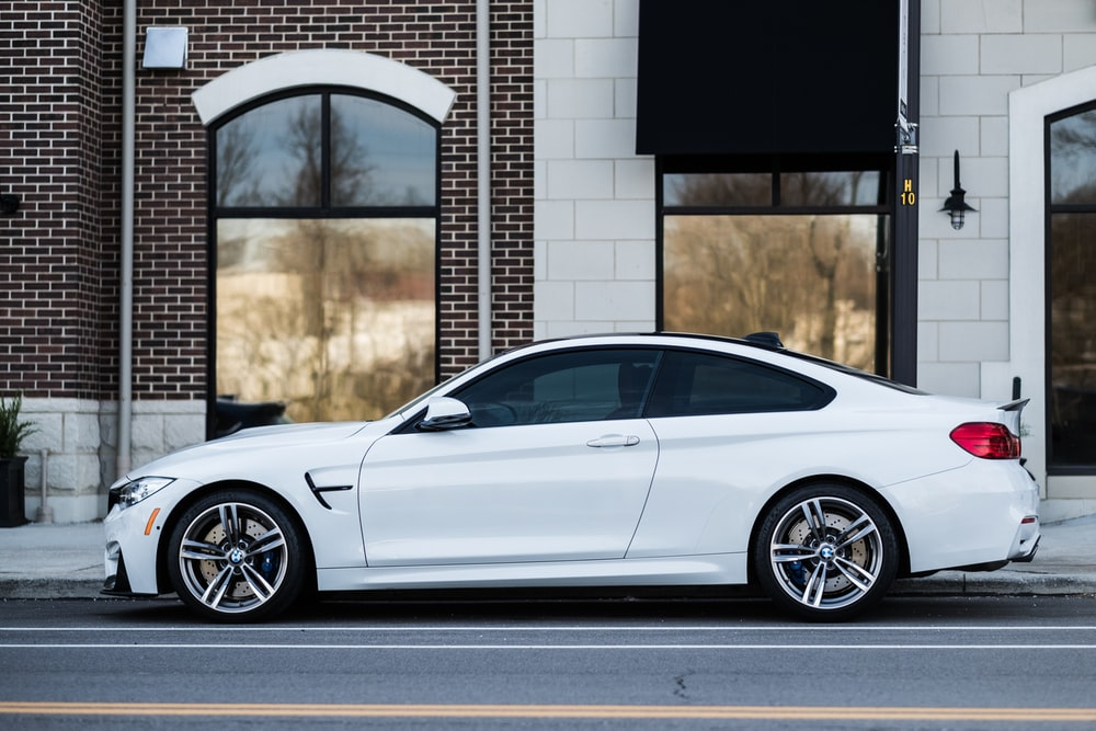 White Bmw By The Sidewalk Photo By Lance Anderson Lanceanderson