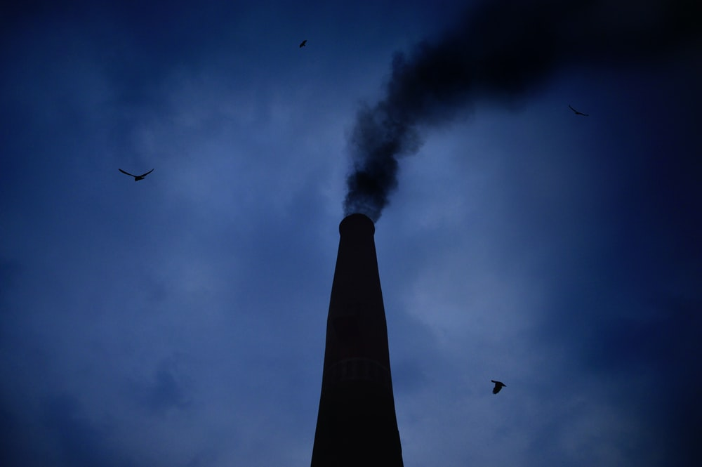 smoking chimney during night