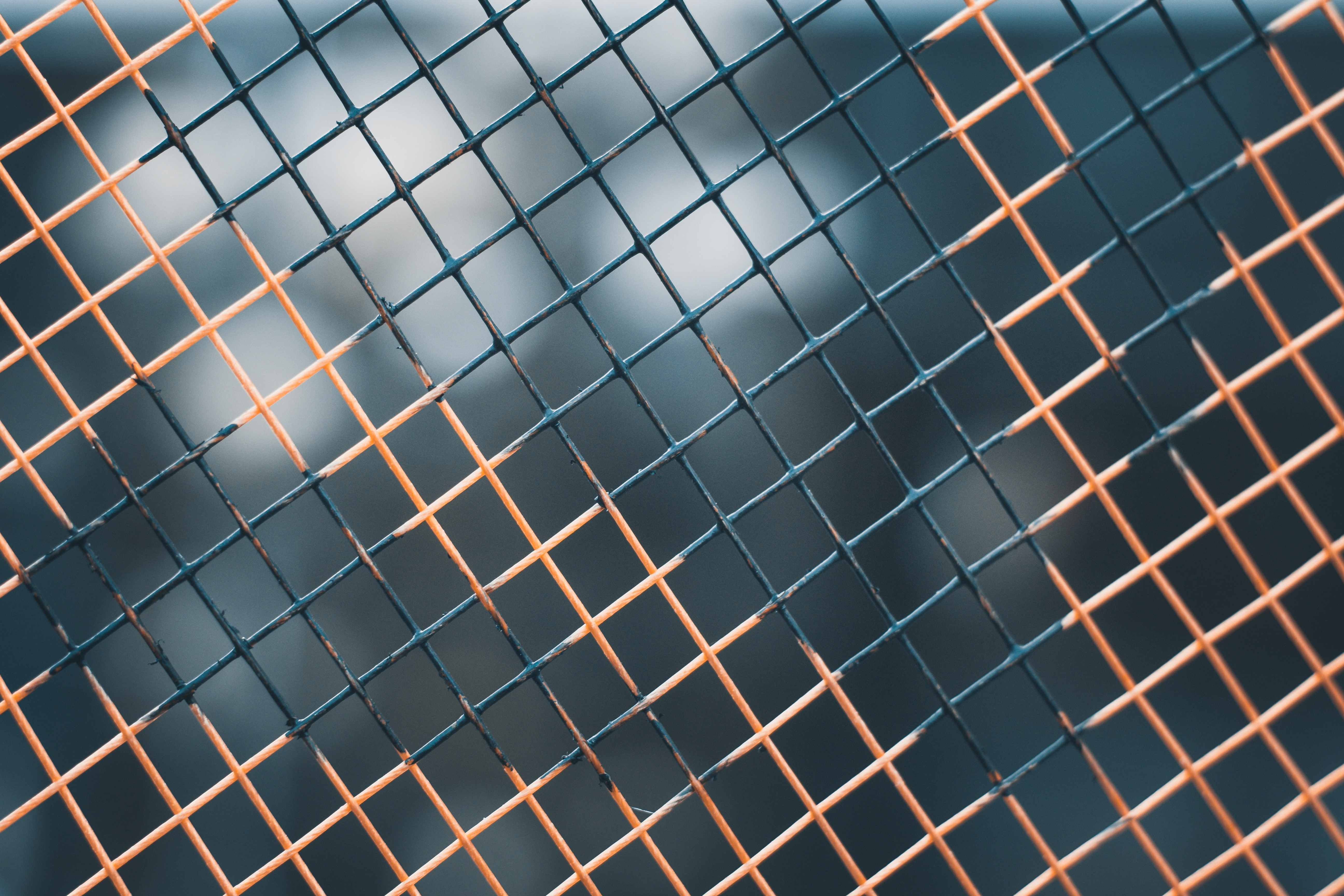 black and brown cyclone fence