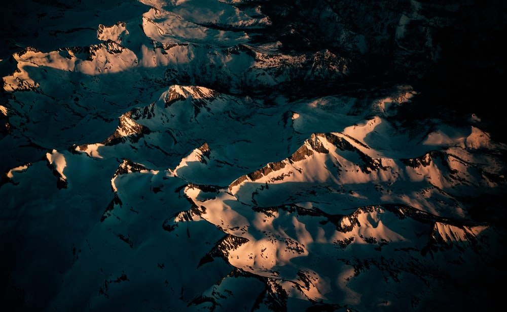 hills with shadow from sunrise