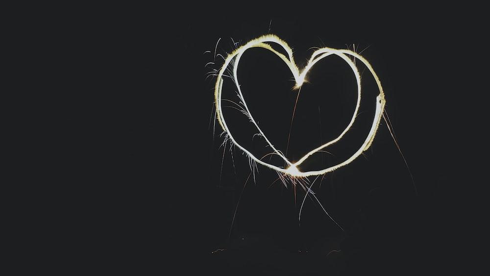heart-shaped design