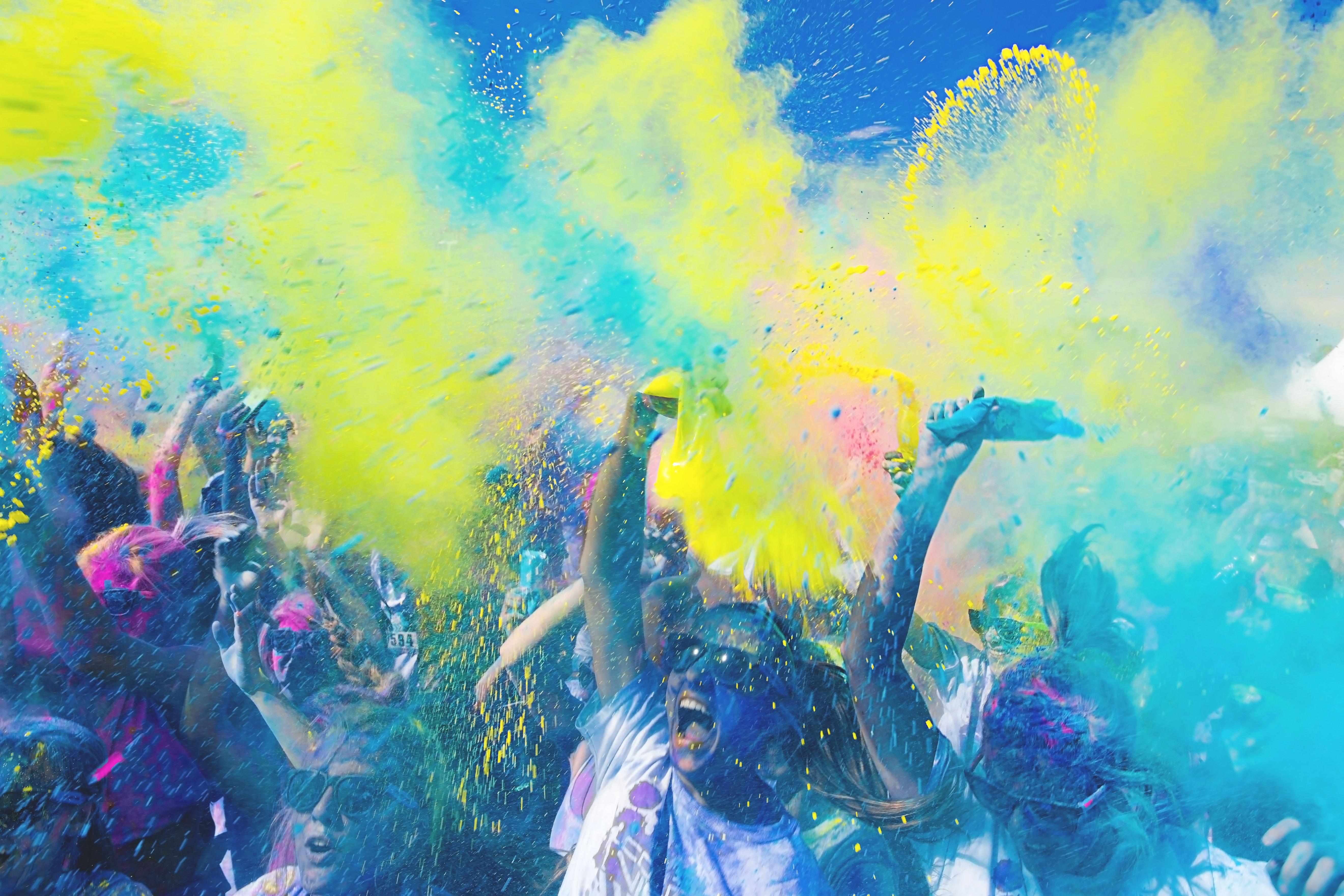 bright colors, color explosion