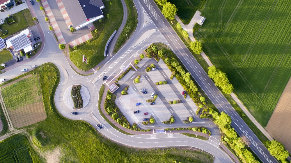 aerial photography of cars on road at daytime