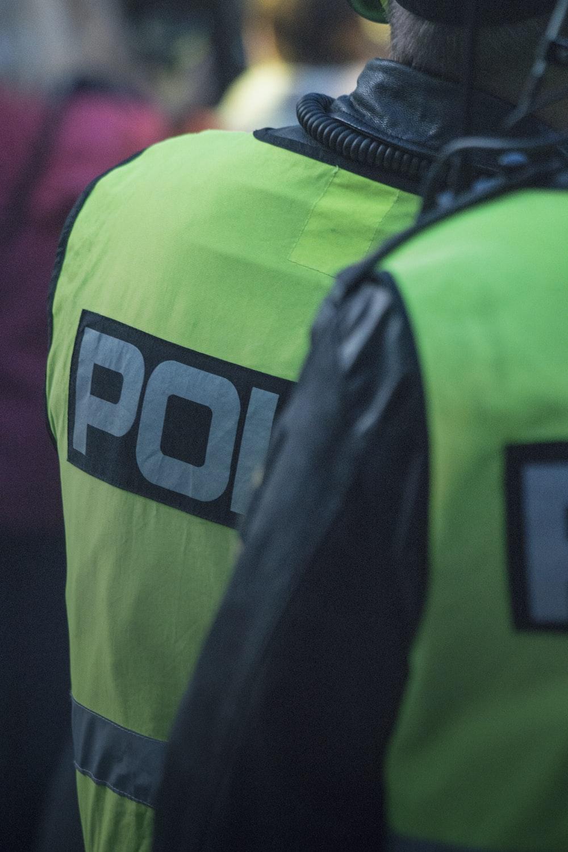 person wearing police unicorn