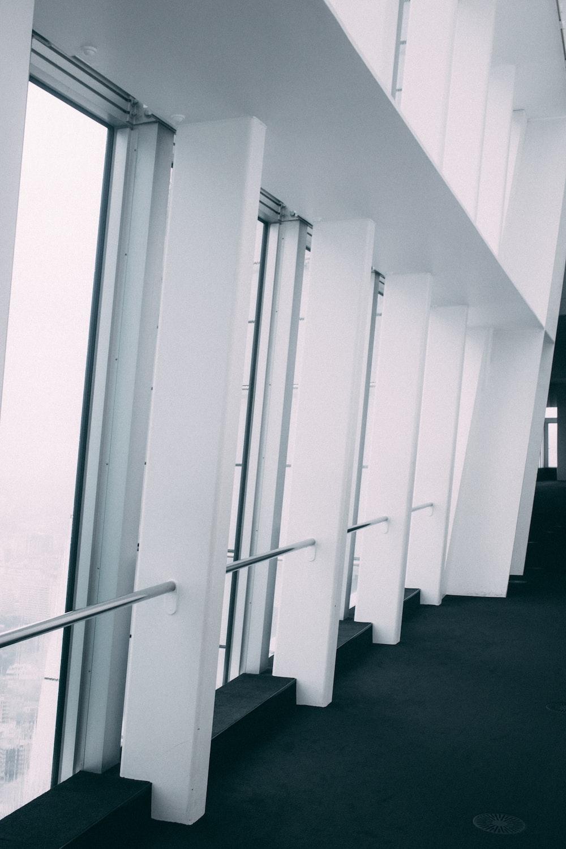 white glass door