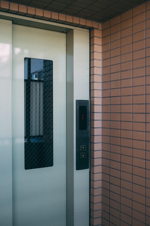 white elevator door