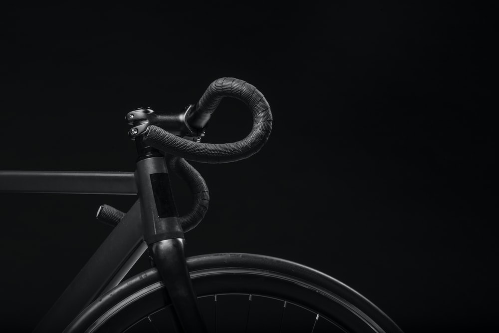 Black Road Bicycle Handle With Background