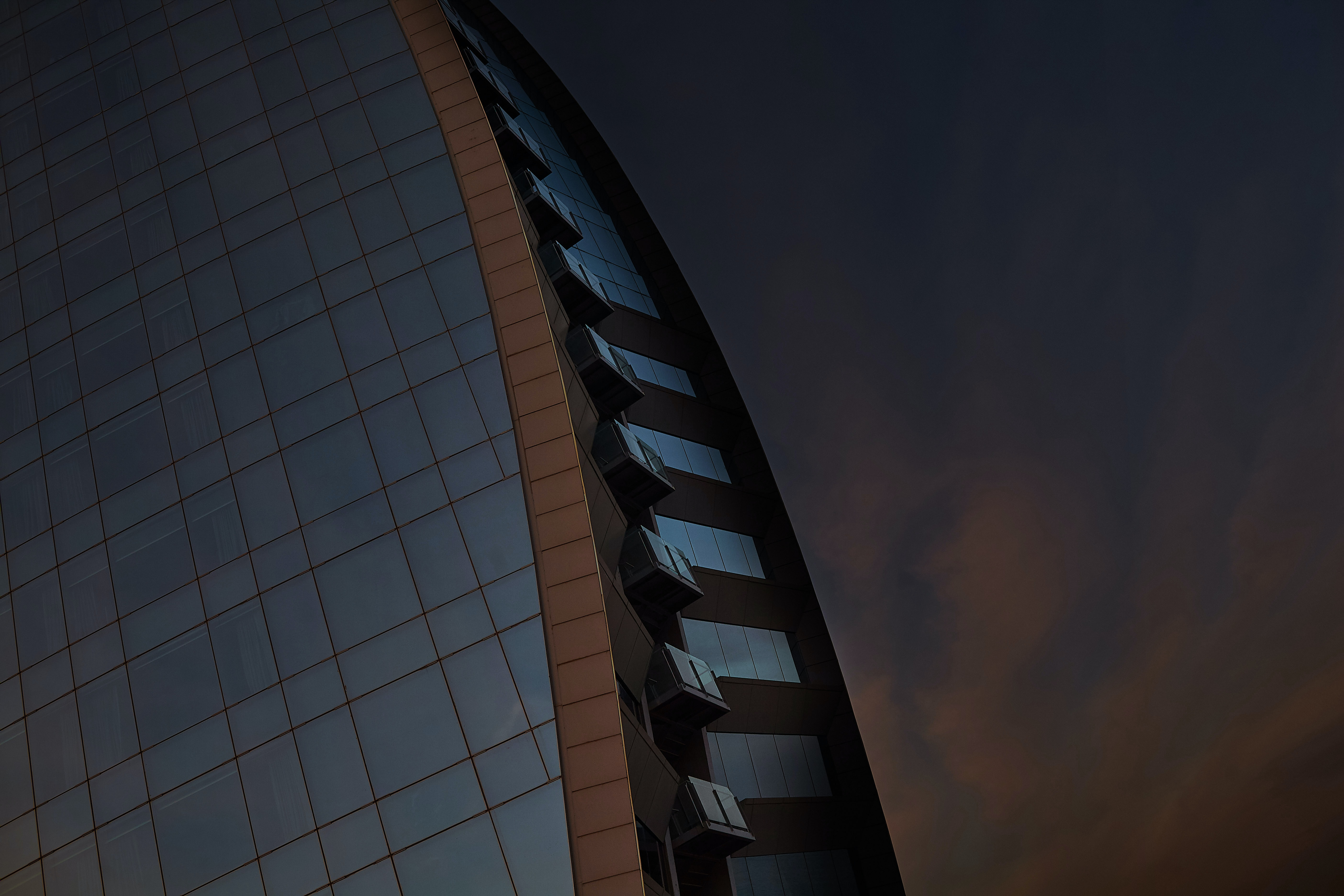 low angel photography of building